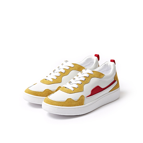 스코노 SCL8404RV51_WHITE/MUSTARD/RED