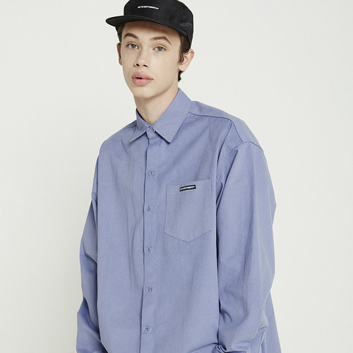 트라이투톡 T38F OVERFIT PEACH COTTON SHIRTS(LIGHT PURPLE)