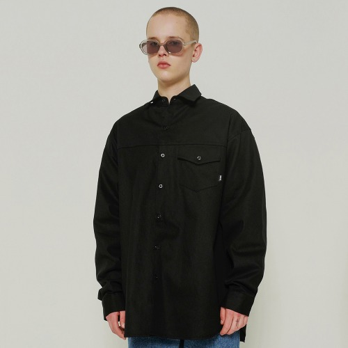트라이투톡 T39S OVERFIT POCKET POINT SHIRTS(BLACK)