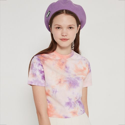 매치글로브 MG9S TIE DYE CROP TEE(LIGHT PURPLE)