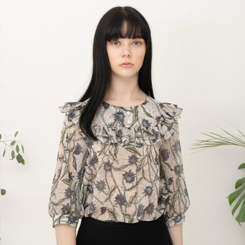 민타레트로 Zoe Flower Blouse