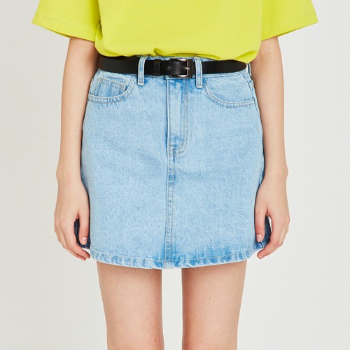 매치글로브 MG9S DENIM BASIC MINI SKIRT(LIGHT BLUE)