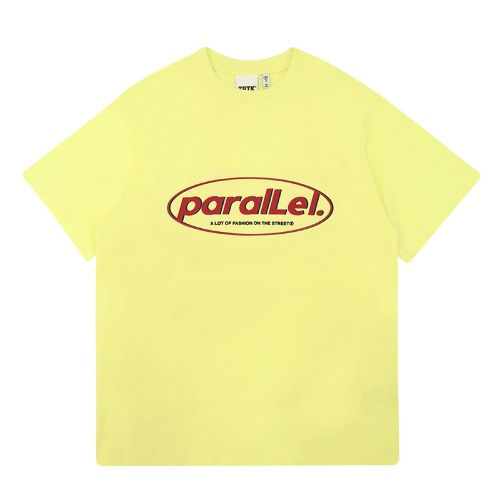 트라이투톡 T39S PARALLEL ROUND LOGO TEE(LIGHT YELLOW)