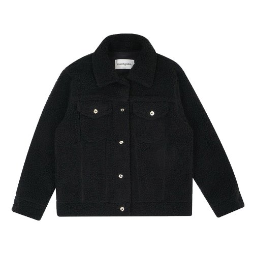 매치글로브 MG9F SHEARING TRUCKER JACKET(BLACK)