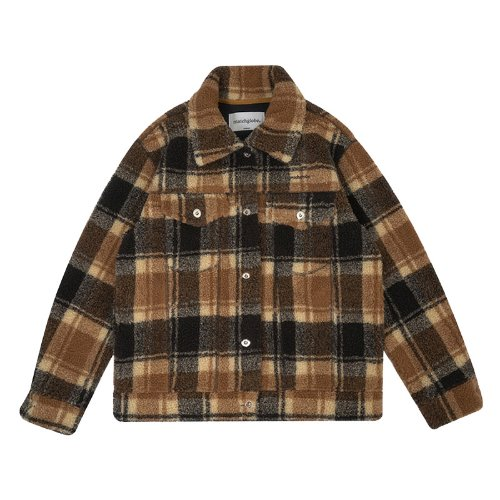 매치글로브 MG9F SHEARING TRUCKER JACKET(BROWN)