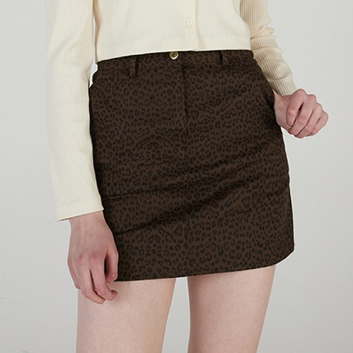매치글로브 MG0S LEOPARD MINI SKIRT(DARK BROWN)
