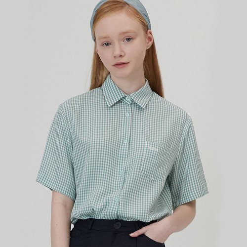 매치글로브 MG0S HALF SLEEVE CHECK SHIRTS(MINT)