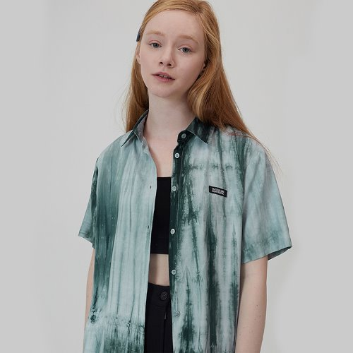 매치글로브 MG0S PRINT SHORTS SLEEVE SHIRT(GREEN)