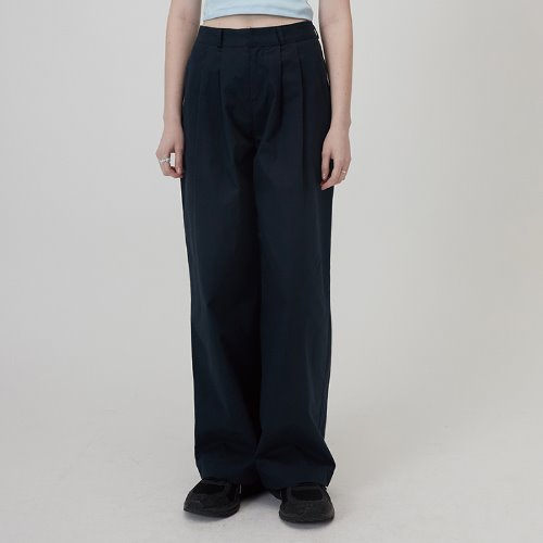 매치글로브 MG0S TWO TUCK WIDE PANTS(NAVY)
