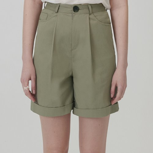 매치글로브 MG0S HIGH WAISTED COTTON SHORTS(KHAKI)