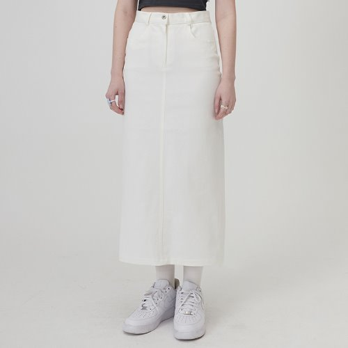 매치글로브 MG0S COTTON TWILL LONG SKIRT(WHITE)