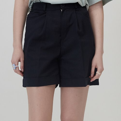 매치글로브 MG0S HIGH WAISTED COTTON SHORTS(NAVY)