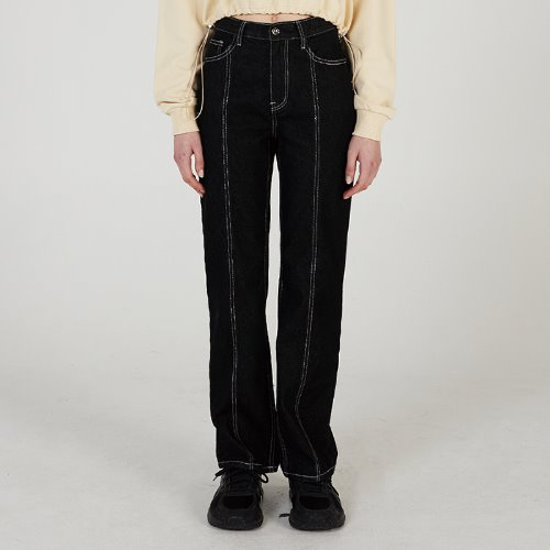 매치글로브 MG0S FRONT BACK SUTTING DENIM PANTS(BLACK)