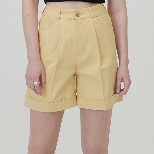 매치글로브 MG0S HIGH WAISTED COTTON SHORTS(YELLOW)