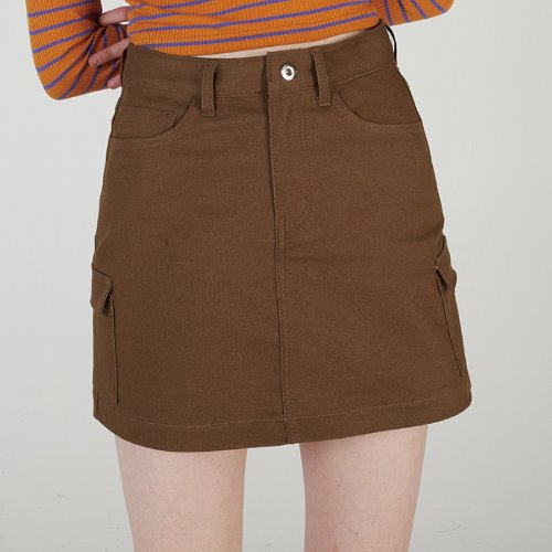 매치글로브 MG0S OUTPOCKET MINI SKIRT(BROWN)