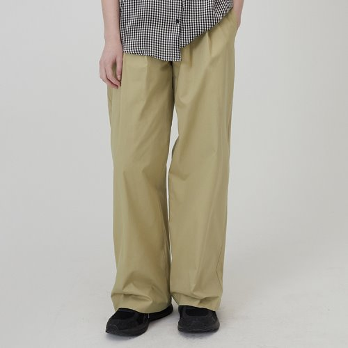 매치글로브 MG0S TWO TUCK WIDE PANTS(BEIGE)