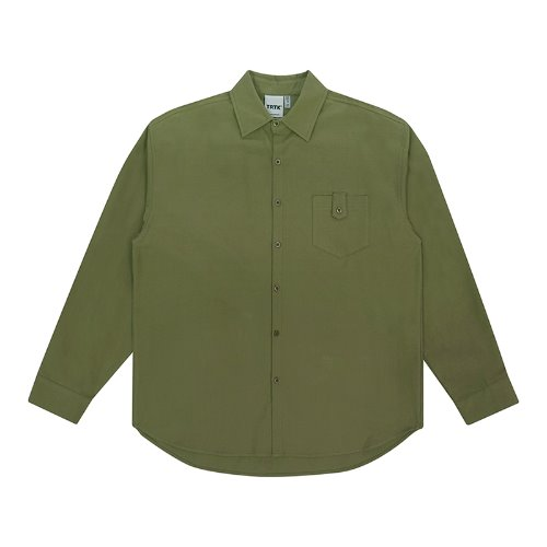 트라이투톡 T30S BUTTON POCKET SHIRT(GREEN)