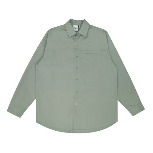 트라이투톡 T30S OVERFIT CUTTING SHIRT(GREEN)