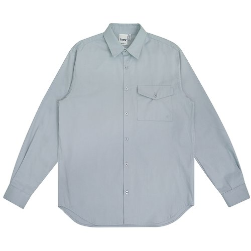 트라이투톡 T30S EMBROIDERY FLAP POCKET SHIRT(BLUE)