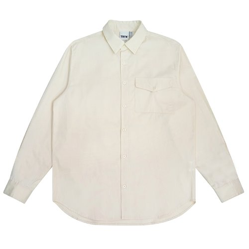 트라이투톡 T30S EMBROIDERY FLAP POCKET SHIRT(IVORY)