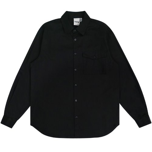 트라이투톡 T30S EMBROIDERY FLAP POCKET SHIRT(BLACK)
